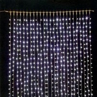 GUIRNALDA CORTINA DE 288 LED BLANCO
