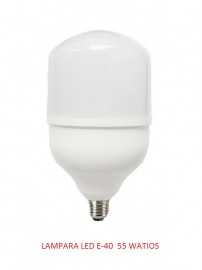 LAMPARAS LED E-40 55 WATIOS 6000K