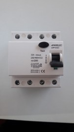 INTERRUPTOR DIFERENCIAL  4 POLOS 25AMP 30MA