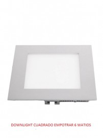 DOWNLIGHT CUADRADO 6 WATIOS 3000K