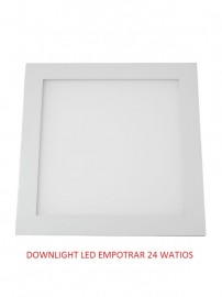 DOWNLIGHT LED CUADRADO 24 WATIOS 4500 K
