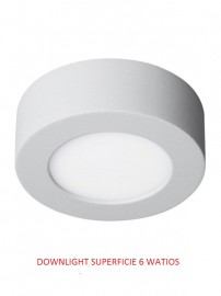 DOWNLIGHT LED SUPERFICIE 6 WATIOS 6000 K