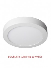 DOWNLIGHT LED SUPERFICIE 18 WATIOS 3000 K