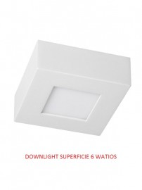 DOWNLIGHT LED SUPERFICIE  6 WATIOS 4500K